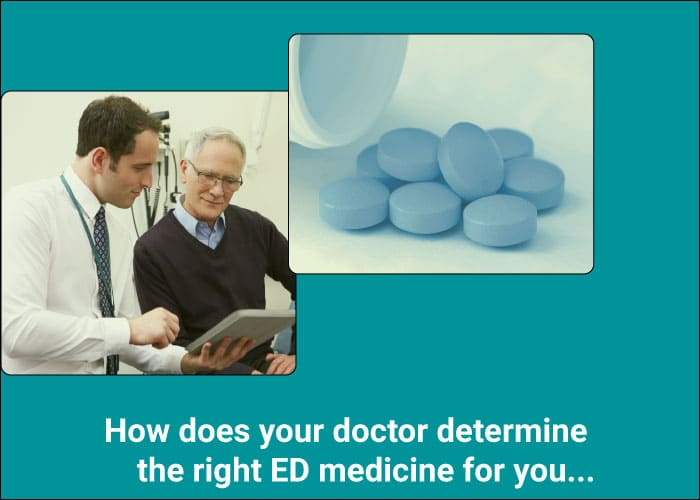 How does your doctor determine the right ED medicine for you